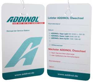 Addinol Ölzettel